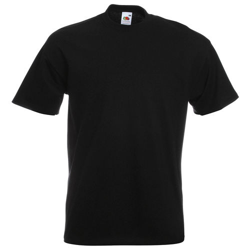 Fruit of the Loom Unisex Super Premium T-Shirt Farbe schwarz bedruckt