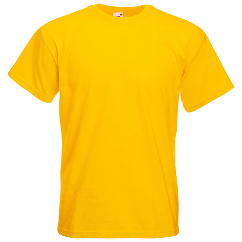 Fruit of the Loom Unisex Super Premium T-Shirt Farbe gelb bedruckt