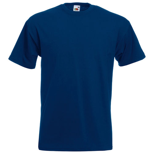 Fruit of the Loom Unisex Super Premium T-Shirt Farbe navy bedruckt