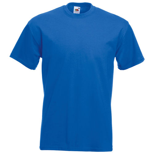 Fruit of the Loom Unisex Super Premium T-Shirt Farbe royal blau bedruckt